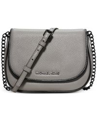 Michael Kors | Gray Michael Jet Set French Binding Small Crossbody | Lyst