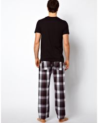 French Connection - Black Pyjama Set for Men - Lyst