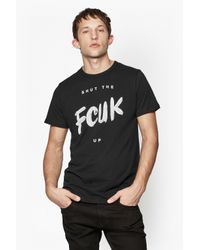 French Connection - Black Shut The Fcuk Up T-shirt for Men - Lyst