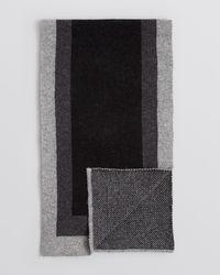 Bloomingdale's Black Frame Scarf for men