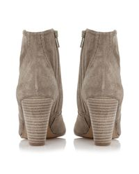 Dune | Brown Portia Stacked Heel Low Western Boots | Lyst