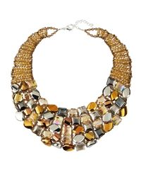 Panacea - Multicolor Mixed-Crystal Collar Necklace - Lyst