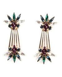 Anton Heunis - Metallic Palm Leaf Drop Earrings - Lyst