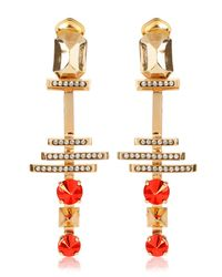 Iosselliani - Orange Deco Clip Earrings - Lyst