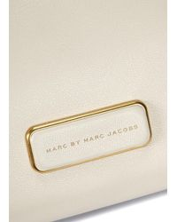 Marc By Marc Jacobs Natural Ligero Two-Tone Leather Shoulder Bag