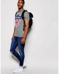 Hilfiger Denim | Gray T-shirt With New York Logo for Men | Lyst