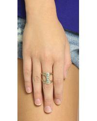 Pascale Monvoisin - Metallic Georgia Ring - Gold/Turquoise - Lyst