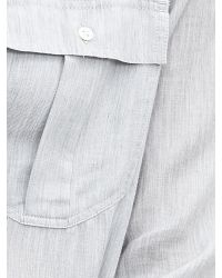 Banana Republic | Gray Soft-wash Textured Military Shirt | Lyst