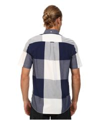 Fred Perry | Blue Magnified Gingham Shirt for Men | Lyst