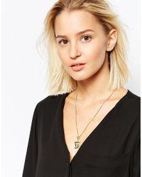 KENZO - Metallic Charm Necklace - Lyst