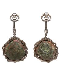 Kimberly Mcdonald - Multicolor Diamond And Geode Earrings - Lyst