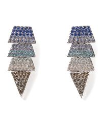 Eddie Borgo | Blue Pavé Scaled Triangle Earrings | Lyst
