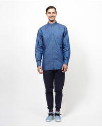 Zanerobe - Blue Seven Fit L/s Shirt - Denim for Men - Lyst
