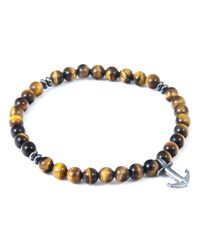 Anchor & Crew | Multicolor Brown Tigers Eye Starboard Natural Stone Bracelet for Men | Lyst
