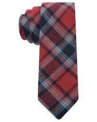 Tommy Hilfiger | Red Urban Plaid Skinny Tie for Men | Lyst