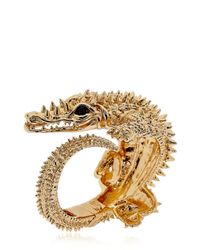 Giuseppe Zanotti | Metallic Crocodile Bracelet | Lyst