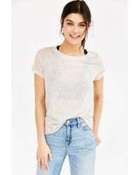 Project Social T | Natural Isabelle Crew-neck Cropped Top | Lyst