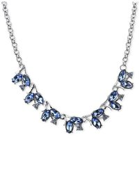 2028 | Metallic Silver-tone Blue Crystal Vine Necklace | Lyst