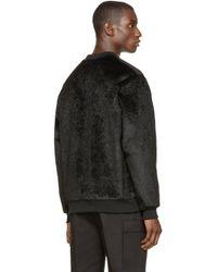Wanda Nylon | Black Faux-fur Alan Sweater for Men | Lyst
