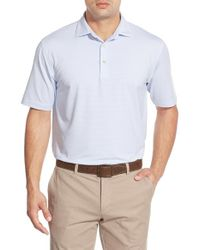 Peter Millar - White 'halford' Stripe Stretch Jersey Polo for Men - Lyst