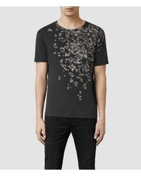 AllSaints - Black Spot Crew T-Shirt for Men - Lyst