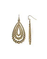 Aqua | Metallic Polly Teardrop Earrings | Lyst