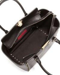 Valentino   Black Rockstud Shopper Tote Bag   Lyst