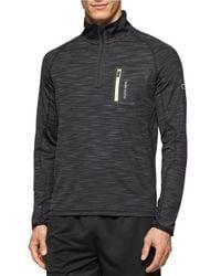 Calvin Klein | Gray Quarter-zip Athletic Pullover for Men | Lyst