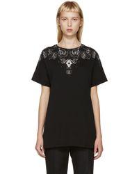 Marcelo Burlon   Black And Grey Liuco T_shirt   Lyst