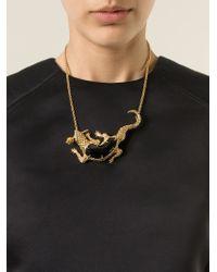 Alexander McQueen - Metallic Salamander Pendant Necklace - Lyst