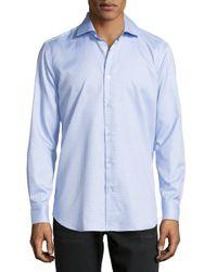 Robert Graham - Blue Lyon Checked Oxford Dress Shirt for Men - Lyst