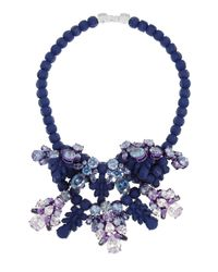 EK Thongprasert Blue Silver-Plated, Silicone And Cubic Zirconia Necklace