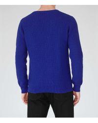 Reiss - Blue Saber Textured Knit Jumper for Men - Lyst