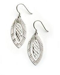 Lord & Taylor | Metallic Sterling Silver Double Drop Earrings | Lyst