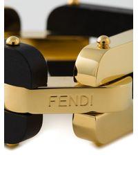 Fendi | Black Chains Bracelet | Lyst