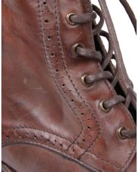 H by Hudson - Brown H By Hudson Angus Brogue Boots for Men - Lyst