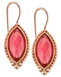 2028 | Pink Navette Drop Earrings | Lyst