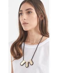 Erin Considine - Black Triple Gully Pendant Necklace - Lyst