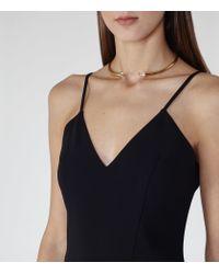 Reiss Black Bonnie Double-layer Jumpsuit