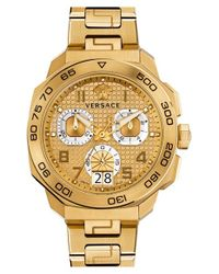 Versace Metallic 'dylos' Chronograph Bracelet Watch for men