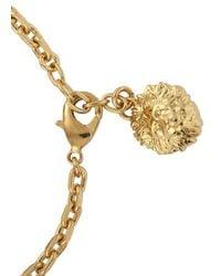 Versus - Metallic Gold Tone Plaque Bracelet for Men - Lyst