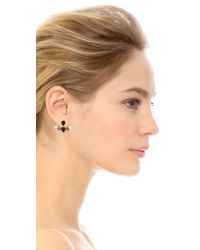 Joanna Laura Constantine - Crystal Ear Jackets - Black/clear/gold - Lyst