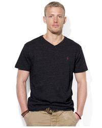 Polo Ralph Lauren Black Jersey V-Neck T-Shirt for men