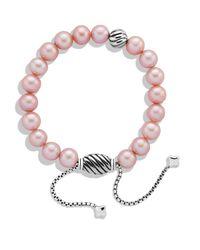 David Yurman | Spiritual Beads Bracelet With Pink Pearls | Lyst