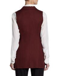 Jil Sander - Red Contour Cotton Vest - Lyst
