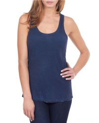 William Rast | Blue Washed Tank Top | Lyst