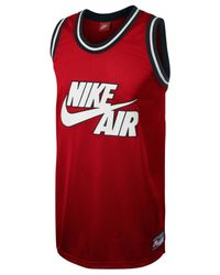 Nike Red Retro Logo Graphic Basketball Jersey for men