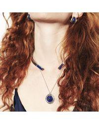 Pamela Love | Blue Inlay Dial Pendant | Lyst