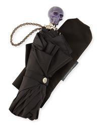 Alexander McQueen | Black Rosin Skull Umbrella | Lyst