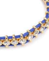 Juicy Couture | Blue Rhinestone Friendship Bracelet | Lyst